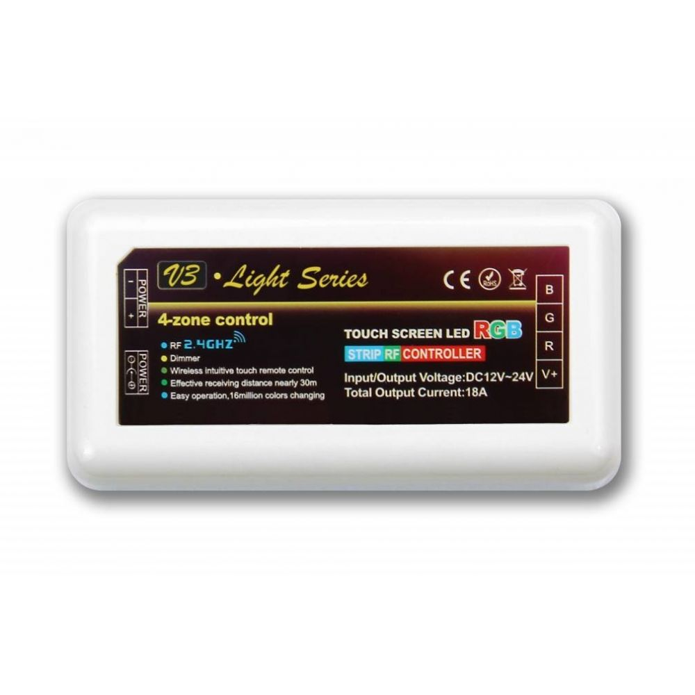 Mi-Light - RGB LED Strip Controller - 12-24V - 6A - 4 Zones