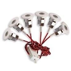 LED Set van 6 Inbouwspots - 3W - Chroom - 3000K - Dimbaar - Gratis Trafo