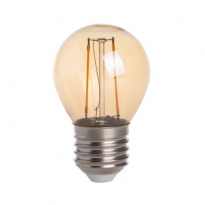 LED E27-G45-Filament lamp - 2W - 2400K - 180Lm - Dimbaar - Goud