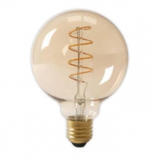 LED E27-G125-Filament lamp - 4W - 2700K - 400Lm - Curved - Amber