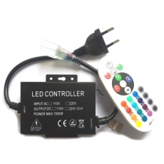 LED Controller - Strip 230V - RGB - RF - 24Keys - 8A - 1500W