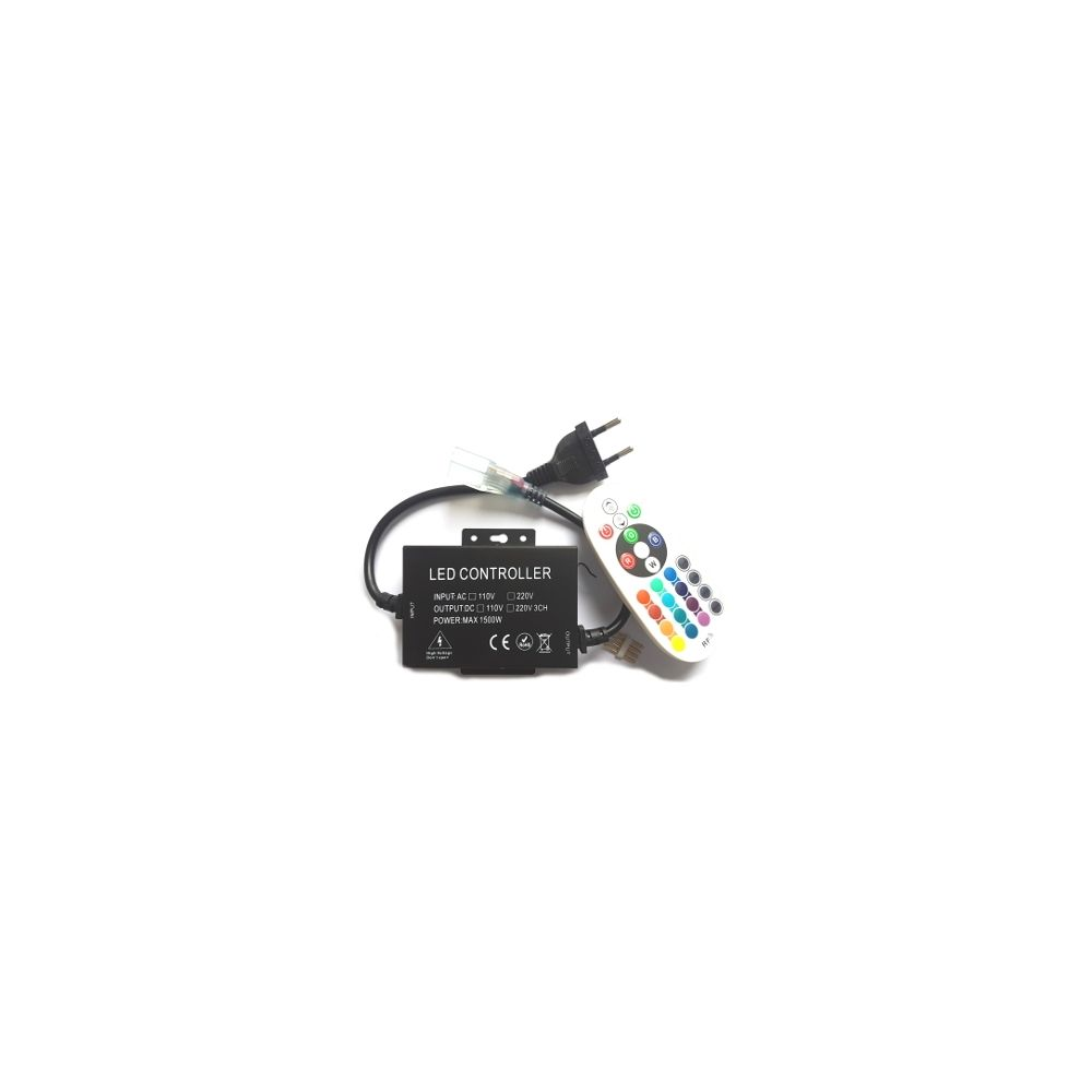 LED Controller - Strip 230V - RGB - RF - 24Keys - 8A - 1500W