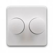 Afdekfrontje voor duo inbouwdimmer (KUBUS-wit)