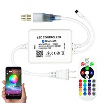 LED Controller - Strip 230V - RGB - IR+App-Bluetooth - 6A - 720W