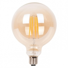 LED E27-G125-Filament lamp - 7W - 2700K - 700Lm - Amber