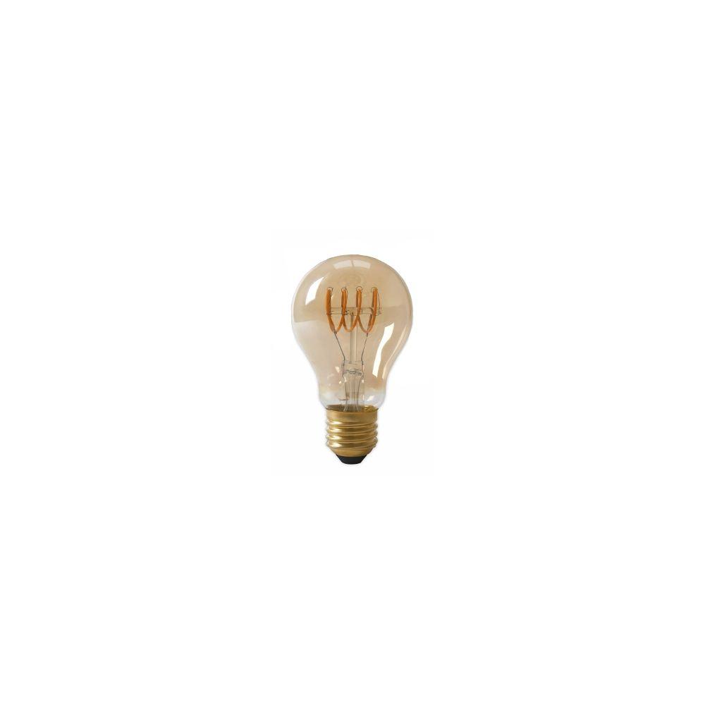 LED E27-A60-Filament lamp - 4W - 2700K - 400Lm - Curved - Amber