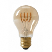 LED E27-A60-Filament lamp - 4W - 2700K - 400Lm - Curved - Amber