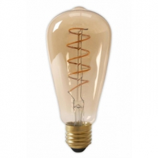 LED E27-ST64-Filament lamp - 4W - 2700K - 700Lm - Curved - Amber