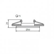 Armatuur - COLIE - Rond - 50mm (Wit)