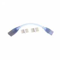 Koppelkabel LED Strip 230V - RGB - 2x female - 200mm - SMD5050 (incl. contactpinnen)
