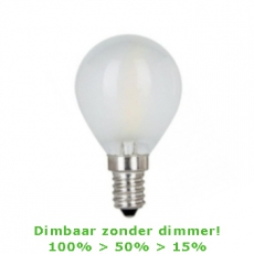 LED E14-G45-Filament Bulb - 4W - 2700K - 450Lm - 3-Stap-Dimbaar