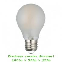 LED E27-A60-Filament - 7,5W - 2700K - 780Lm - 3-Stap-Dimbaar