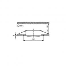 Armatuur - Rond - 50mm (Zwart)