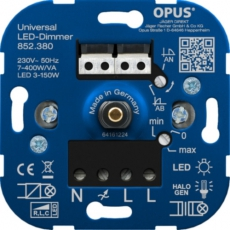 LED Inbouwdimmer - Universeel (faseaansnijding-faseafsnijding) - 7-400W/VA
