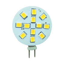 LED G4 - 3,0W - 10-30 Volt -15SMD - Sidepin (20W halogeen vervanger)