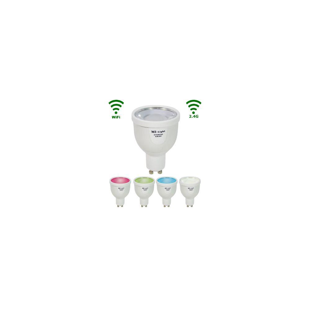 LED GU10 Spot - 4W - RGB/Warm wit - WiFi/RF Controlled
