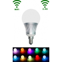 LED E14 Bulb - 5W - RGB/Warm wit - WiFi/RF Controlled