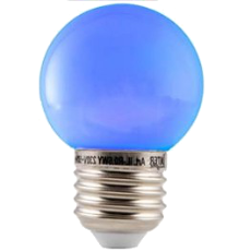LED E27-Bulb - 1W - Waterproof - Blauw