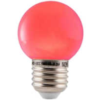 LED E27-Bulb - 1W - Waterproof - Rood