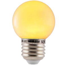 LED E27-Bulb - 2W - Waterproof - Geel