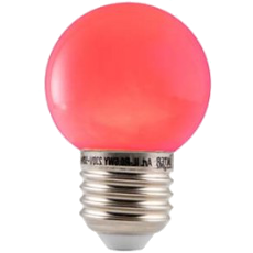 LED E27-Bulb - 2W - Waterproof - Rood