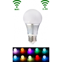 LED E27 Bulb - 5W - RGB/Warm wit - WiFi/RF Controlled