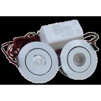 LED Set van 2 Inbouwspots - 3W - Chroom - Dimbaar - Gratis Trafo