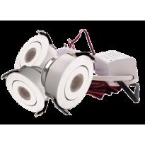 LED Set van 3 Inbouwspots - 3W - Wit - Dimbaar - Gratis Trafo