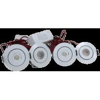 LED Set van 4 Inbouwspots - 3W - Chroom - Dimbaar - Gratis Trafo