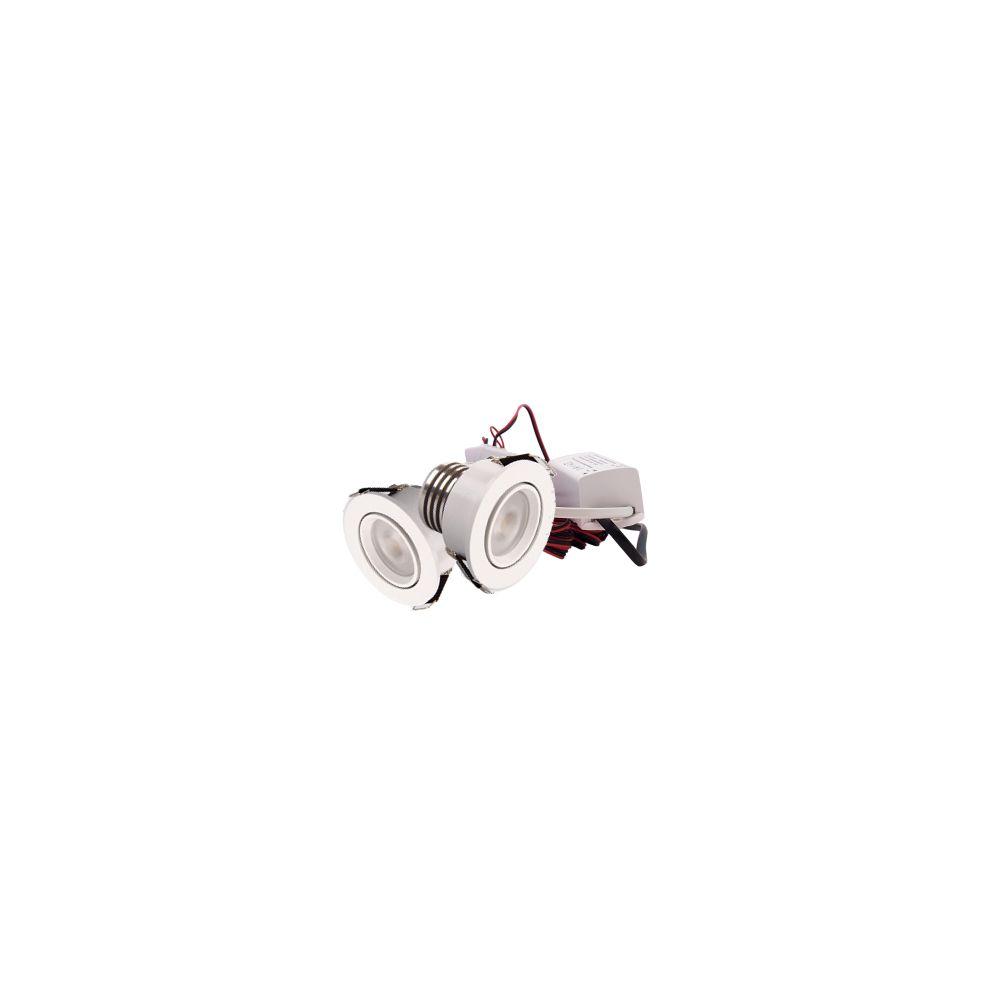 LED Set van 2 Inbouwspot - 4W - Wit - Dimbaar - Gratis Trafo