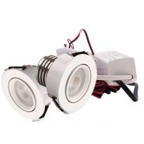 LED Set van 2 Inbouwspots - 4W - Wit - Dimbaar - Gratis Trafo