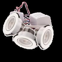 LED Set van 3 Inbouwspots - 4W - Wit - Dimbaar - Gratis Trafo