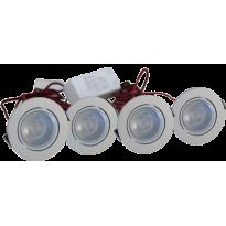 LED Set van 4 Inbouwspots - 4W - Chroom - Dimbaar - Gratis Trafo