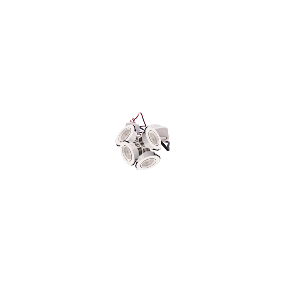 LED Set van 4 Inbouwspot - 4W - Wit - Dimbaar - Gratis Trafo