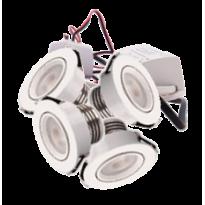 LED Set van 4 Inbouwspots - 4W - Wit - Dimbaar - Gratis Trafo