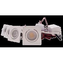 LED Set 4-Inbouwspots - 4W - Wit - Vierkant - Dimbaar - Gratis Trafo