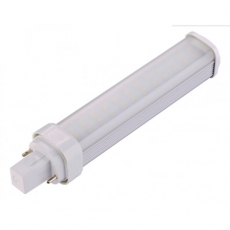 LED PLc G24d 9W - 3000K/4000K - 135° - 158mm - Matglas