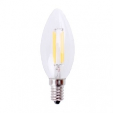 LED E14-Filament kaarslamp - 4W - 2500K - 440Lm