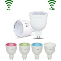 LED GU5.3 Spot - 4W - RGB/Warm wit - WiFi/RF Controlled