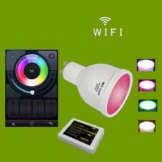 LED GU5.3 Spot - 4W - RGB/Warm wit - WiFi/RF Controlled