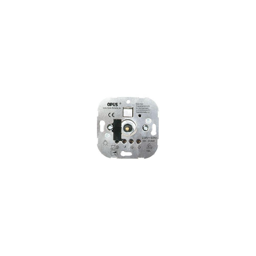 Inbouwdimmer (fase-afsnijding voor laagspannings- en gloeilampen) - 20-315W/VA