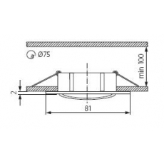 Armatuur vierkant 50mm (RVS-glans)