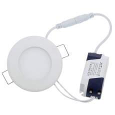 LED Paneel Rond Ø120x12mm - 6W - 400LM - IP54 (zaagmt Ø105mm)